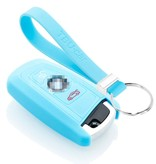 TBU car TBU car Car key cover compatible with BMW - Silicone Protective Remote Key Shell - FOB Case Cover - Light Blue