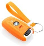 TBU car TBU car Funda Carcasa llave compatible con BMW - Funda de Silicona - Cover de Llave Coche - Naranja