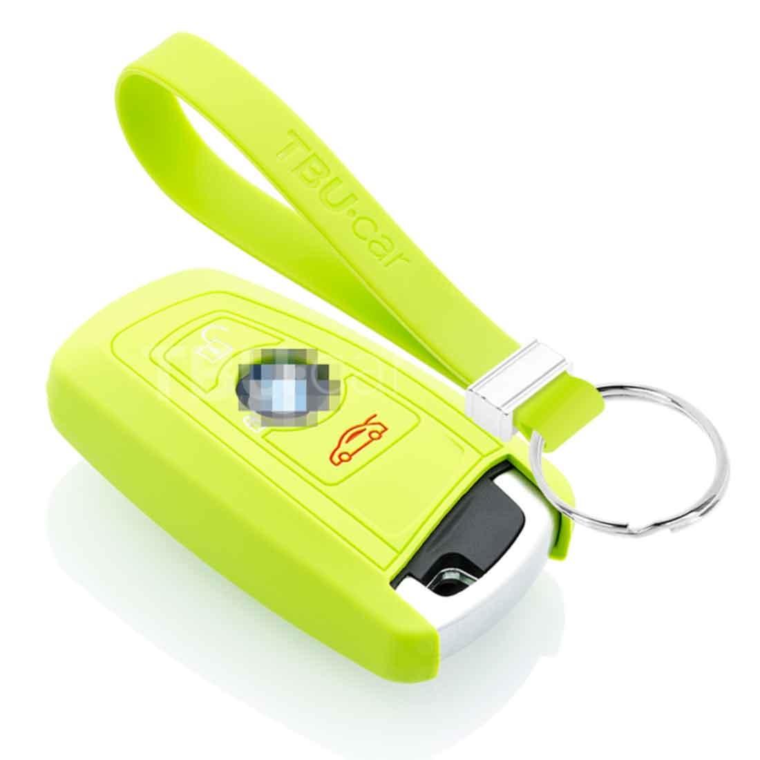 TBU car TBU car Autoschlüssel Hülle kompatibel mit BMW 3 Tasten (Keyless Entry) - Schutzhülle aus Silikon - Auto Schlüsselhülle Cover in Lindgrün