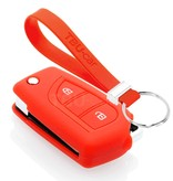 TBU car TBU car Funda Carcasa llave compatible con Citroën - Funda de Silicona - Cover de Llave Coche - Rojo