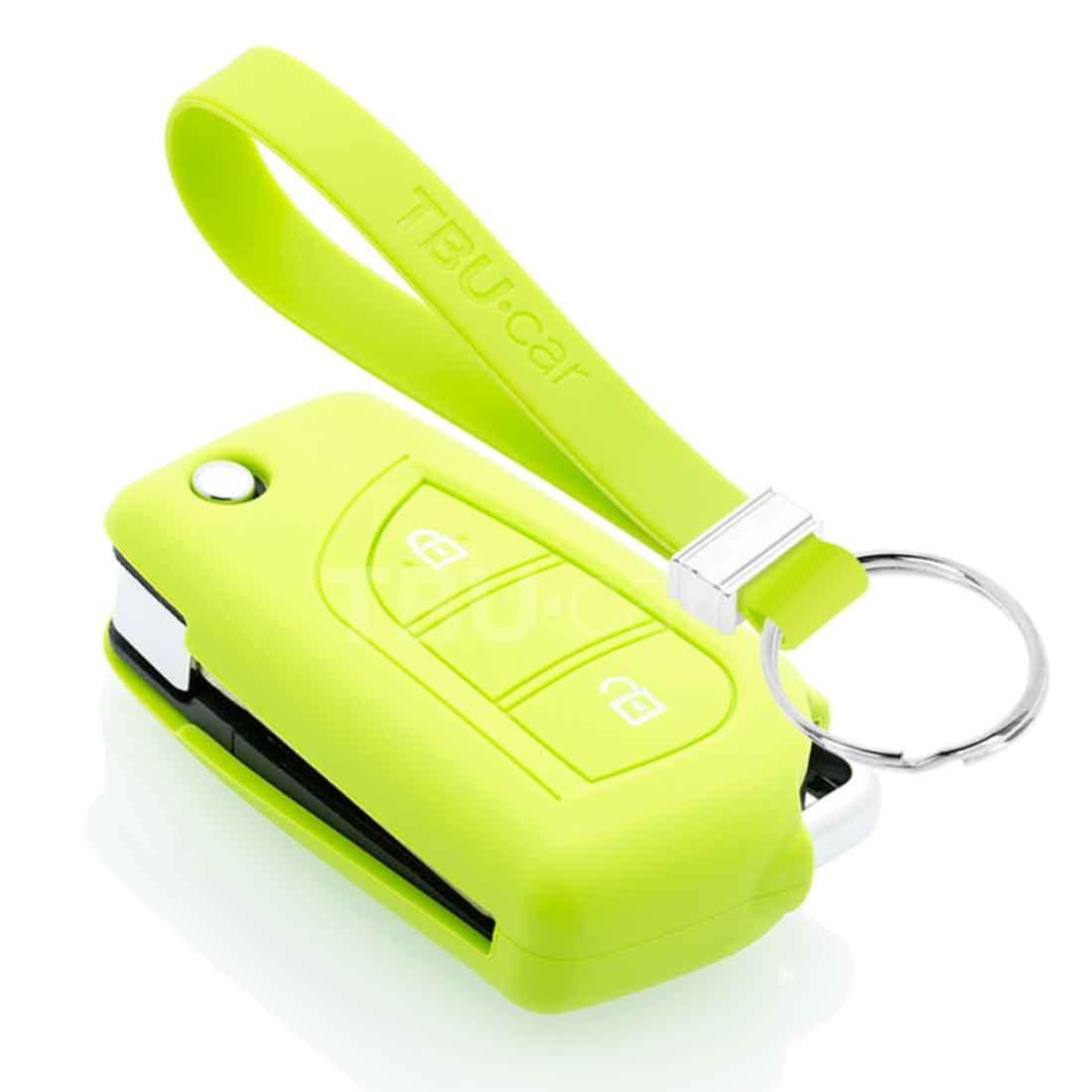 TBU car TBU car Sleutel cover compatibel met Toyota - Silicone sleutelhoesje - beschermhoesje autosleutel - Lime groen