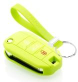 TBU car TBU car Autoschlüssel Hülle kompatibel mit Peugeot 3 Tasten - Schutzhülle aus Silikon - Auto Schlüsselhülle Cover in Lindgrün