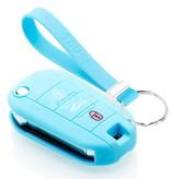 TBU car TBU car Autoschlüssel Hülle kompatibel mit Citroën 3 Tasten - Schutzhülle aus Silikon - Auto Schlüsselhülle Cover in Hellblau