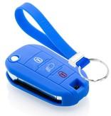 TBU car TBU car Autoschlüssel Hülle kompatibel mit Citroën 3 Tasten (Licht Taste) - Schutzhülle aus Silikon - Auto Schlüsselhülle Cover in Blau