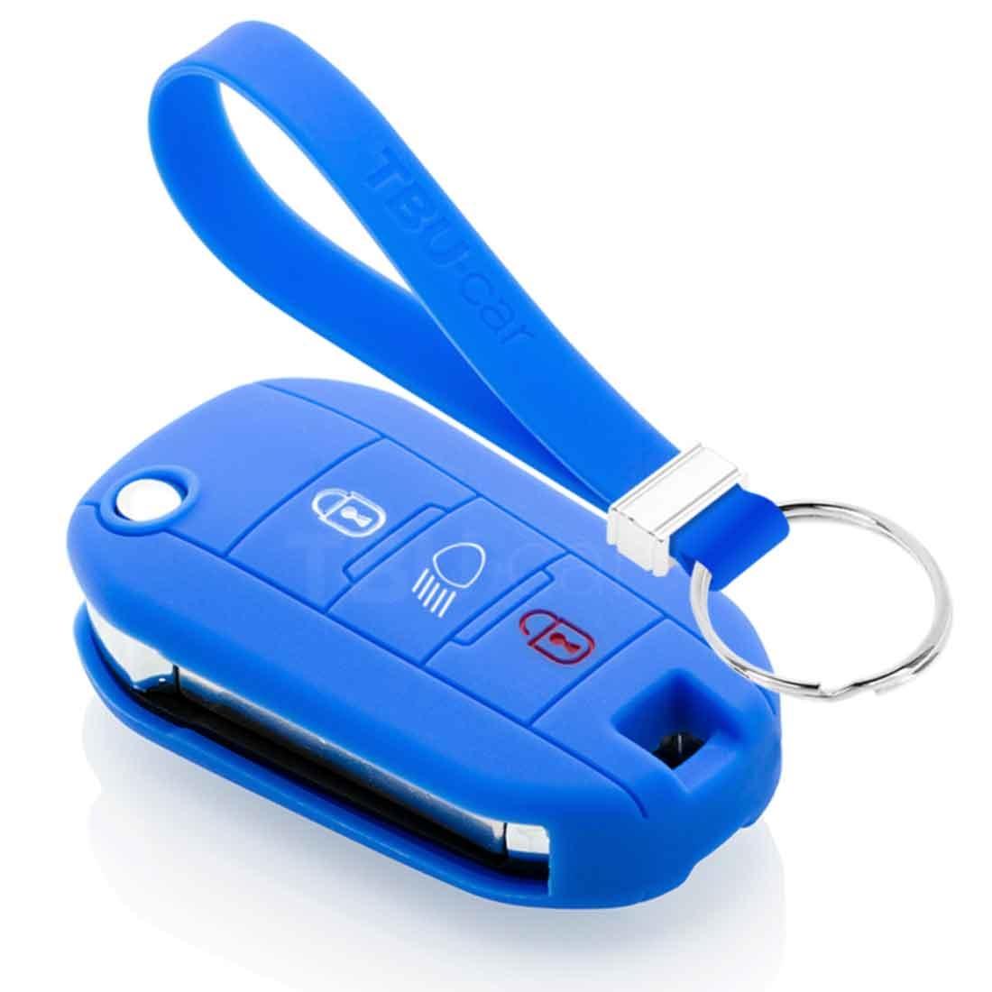 TBU car TBU car Sleutel cover compatibel met Citroën - Silicone sleutelhoesje - beschermhoesje autosleutel - Blauw