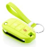TBU car TBU car Sleutel cover compatibel met Citroën - Silicone sleutelhoesje - beschermhoesje autosleutel - Lime groen