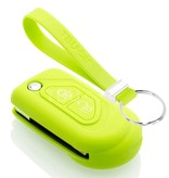 TBU car TBU car Autoschlüssel Hülle kompatibel mit Citroën 2 Tasten - Schutzhülle aus Silikon - Auto Schlüsselhülle Cover in Lindgrün
