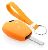 TBU car TBU car Sleutel cover compatibel met Dacia - Silicone sleutelhoesje - beschermhoesje autosleutel - Oranje