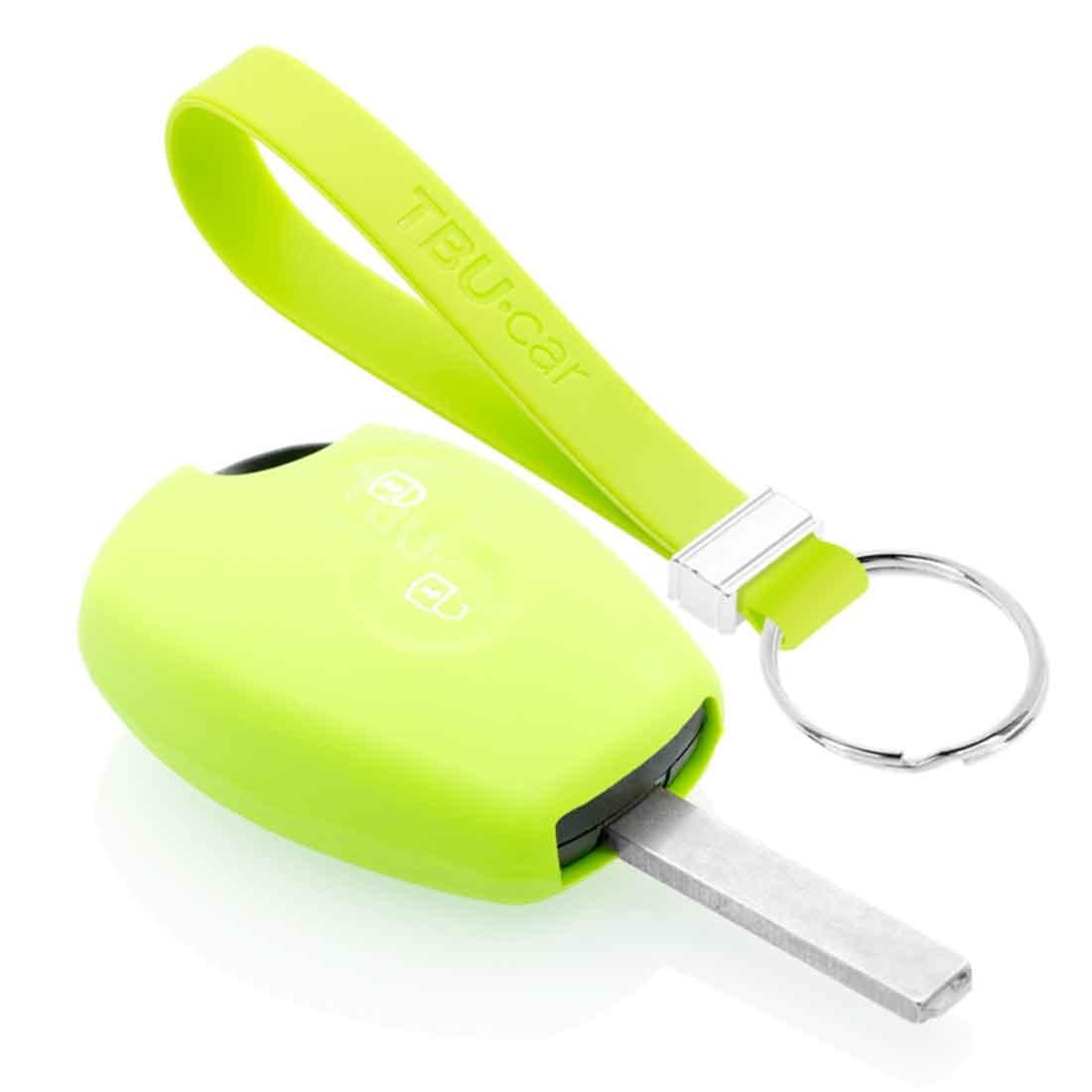 TBU car TBU car Sleutel cover compatibel met Dacia - Silicone sleutelhoesje - beschermhoesje autosleutel - Lime groen