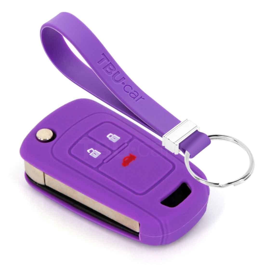 TBU car TBU car Funda Carcasa llave compatible con Chevrolet - Funda de Silicona - Cover de Llave Coche - Violeta