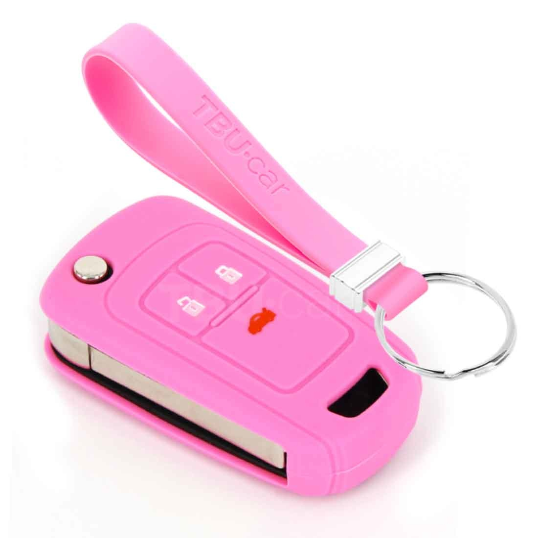 TBU car TBU car Car key cover compatible with Chevrolet - Silicone Protective Remote Key Shell - FOB Case Cover - Pink
