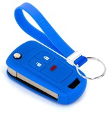 TBU car TBU car Car key cover compatible with Chevrolet - Silicone Protective Remote Key Shell - FOB Case Cover - Blue