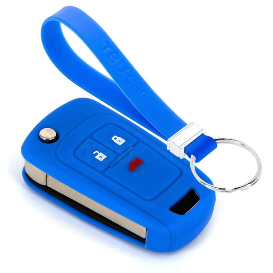 TBU car TBU car Funda Carcasa llave compatible con Chevrolet - Funda de Silicona - Cover de Llave Coche - Azul