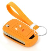 TBU car TBU car Funda Carcasa llave compatible con Chevrolet - Funda de Silicona - Cover de Llave Coche - Naranja