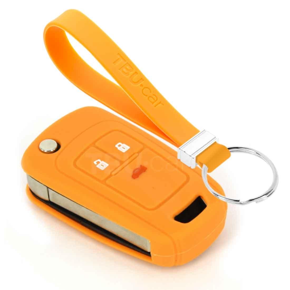 TBU car TBU car Car key cover compatible with Chevrolet - Silicone Protective Remote Key Shell - FOB Case Cover - Orange
