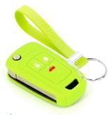 TBU car TBU car Autoschlüssel Hülle kompatibel mit Chevrolet 3 Tasten - Schutzhülle aus Silikon - Auto Schlüsselhülle Cover in Lindgrün