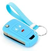 TBU car TBU car Sleutel cover compatibel met Chevrolet - Silicone sleutelhoesje - beschermhoesje autosleutel - Lichtblauw