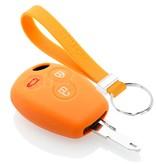 TBU car TBU car Autoschlüssel Hülle kompatibel mit Dacia 3 Tasten - Schutzhülle aus Silikon - Auto Schlüsselhülle Cover in Orange