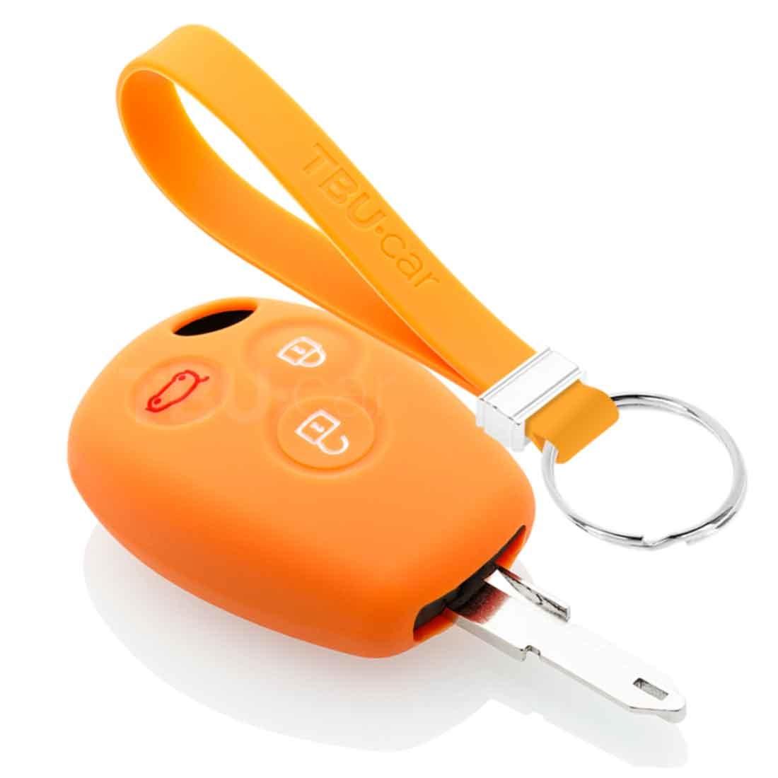 TBU car TBU car Funda Carcasa llave compatible con Dacia - Funda de Silicona - Cover de Llave Coche - Naranja