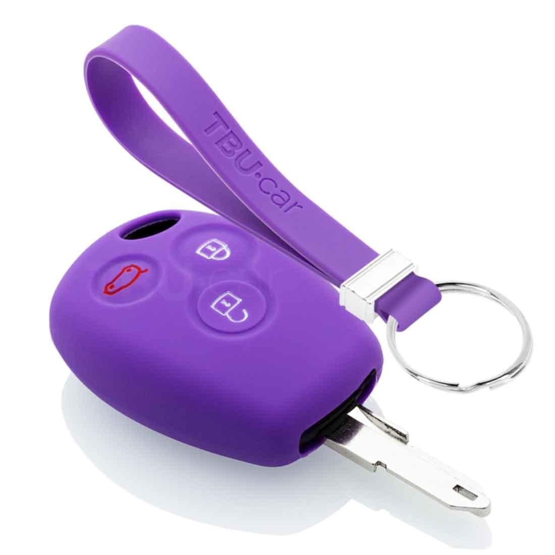 TBU car TBU car Autoschlüssel Hülle kompatibel mit Dacia 3 Tasten - Schutzhülle aus Silikon - Auto Schlüsselhülle Cover in Violett