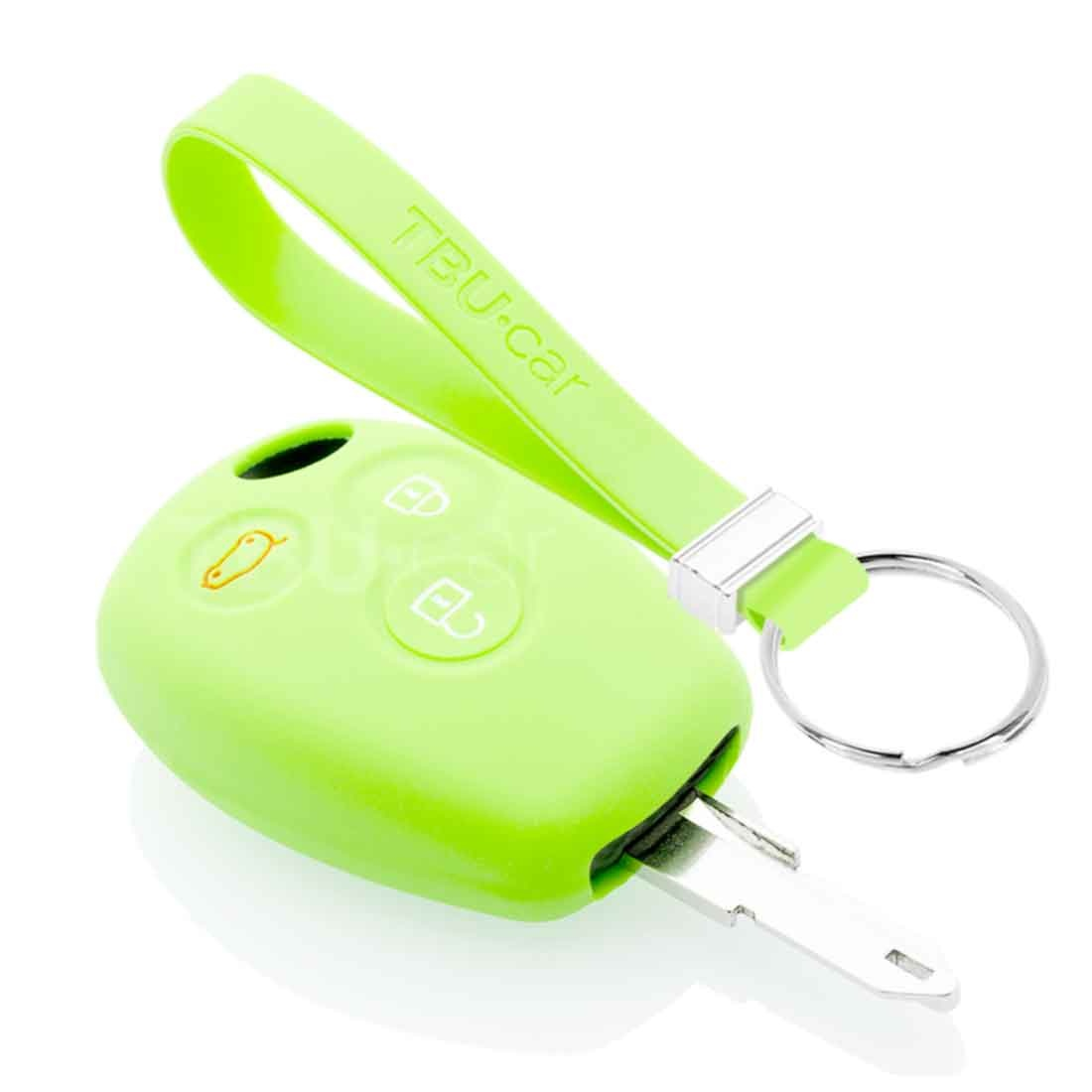 TBU car TBU car Autoschlüssel Hülle kompatibel mit Dacia 3 Tasten - Schutzhülle aus Silikon - Auto Schlüsselhülle Cover in Im Dunkeln leuchten