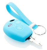 TBU car TBU car Autoschlüssel Hülle kompatibel mit Dacia 3 Tasten - Schutzhülle aus Silikon - Auto Schlüsselhülle Cover in Hellblau