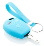 TBU car TBU car Sleutel cover compatibel met Dacia - Silicone sleutelhoesje - beschermhoesje autosleutel - Lichtblauw