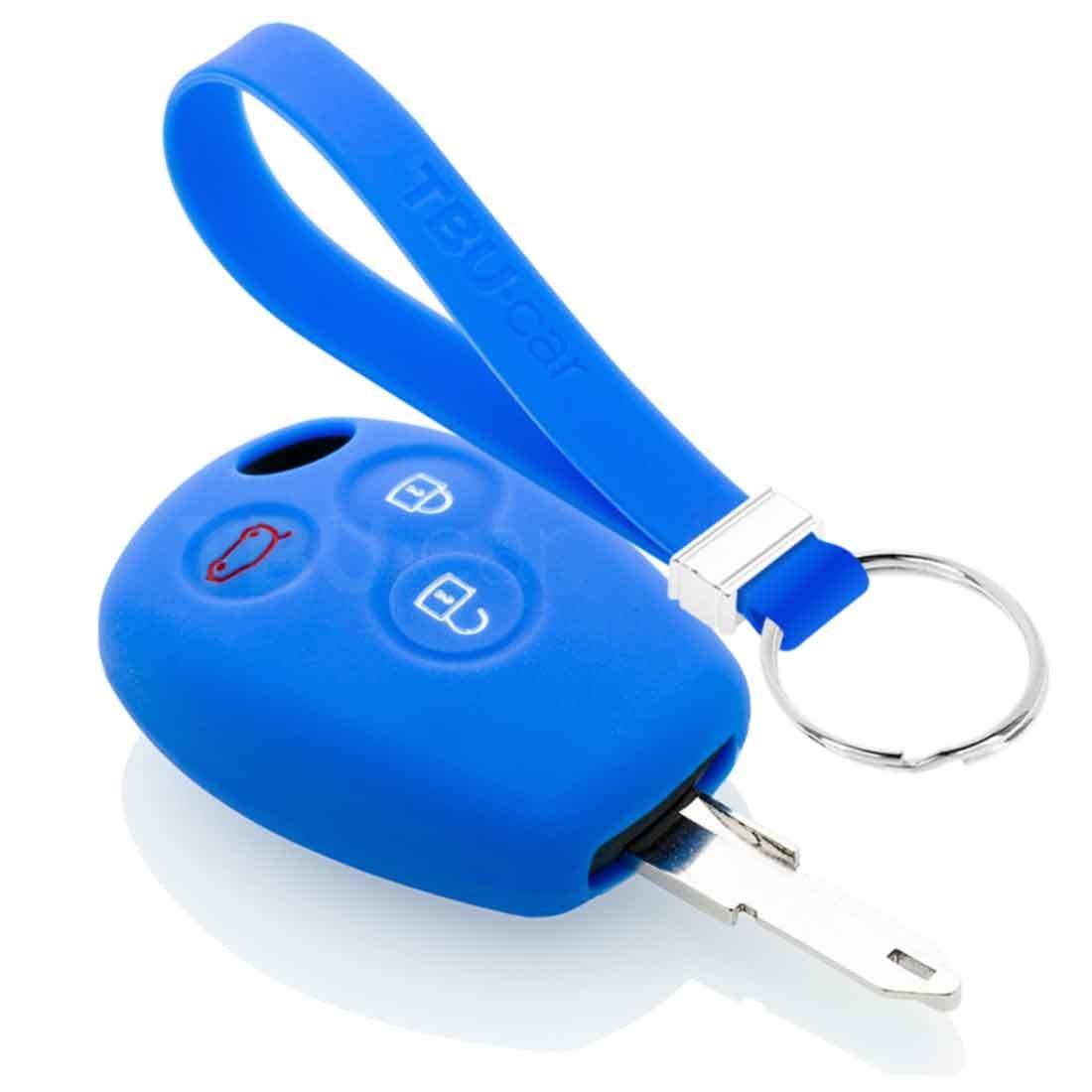 TBU car TBU car Sleutel cover compatibel met Dacia - Silicone sleutelhoesje - beschermhoesje autosleutel - Blauw