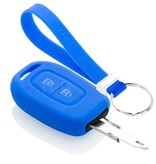 TBU car TBU car Car key cover compatible with Dacia - Silicone Protective Remote Key Shell - FOB Case Cover - Blue