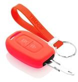 TBU car TBU car Autoschlüssel Hülle kompatibel mit Dacia 2 Tasten - Schutzhülle aus Silikon - Auto Schlüsselhülle Cover in Rott
