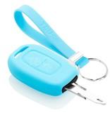 TBU car TBU car Autoschlüssel Hülle kompatibel mit Dacia 2 Tasten - Schutzhülle aus Silikon - Auto Schlüsselhülle Cover in Hellblau