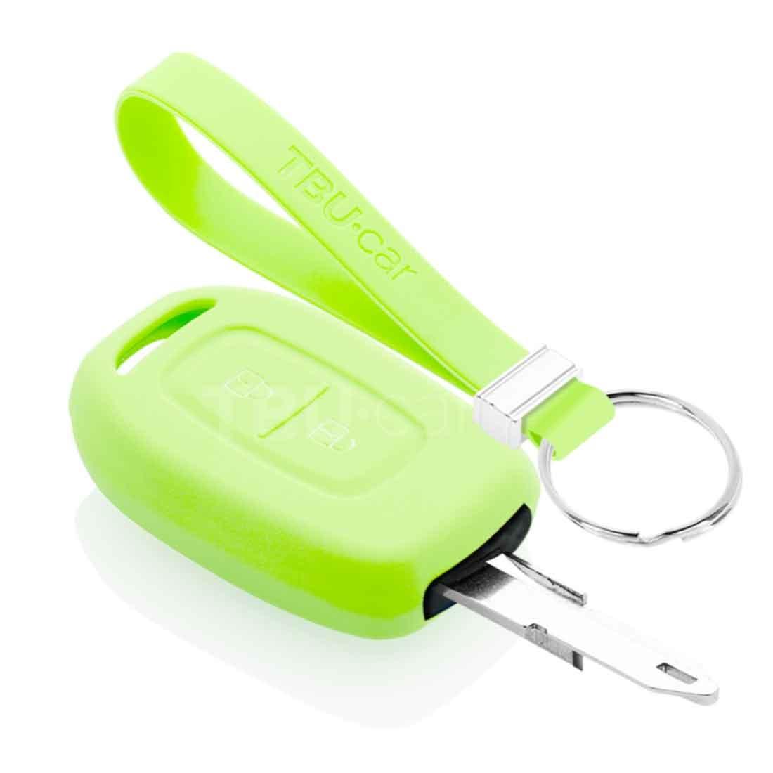 TBU car TBU car Autoschlüssel Hülle kompatibel mit Dacia 2 Tasten - Schutzhülle aus Silikon - Auto Schlüsselhülle Cover in Im Dunkeln leuchten