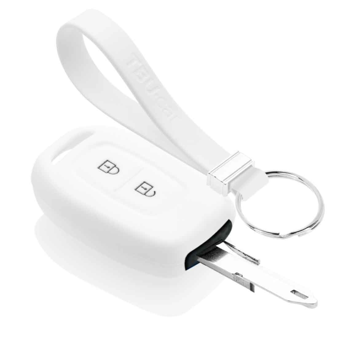 TBU car TBU car Sleutel cover compatibel met Dacia - Silicone sleutelhoesje - beschermhoesje autosleutel - Wit
