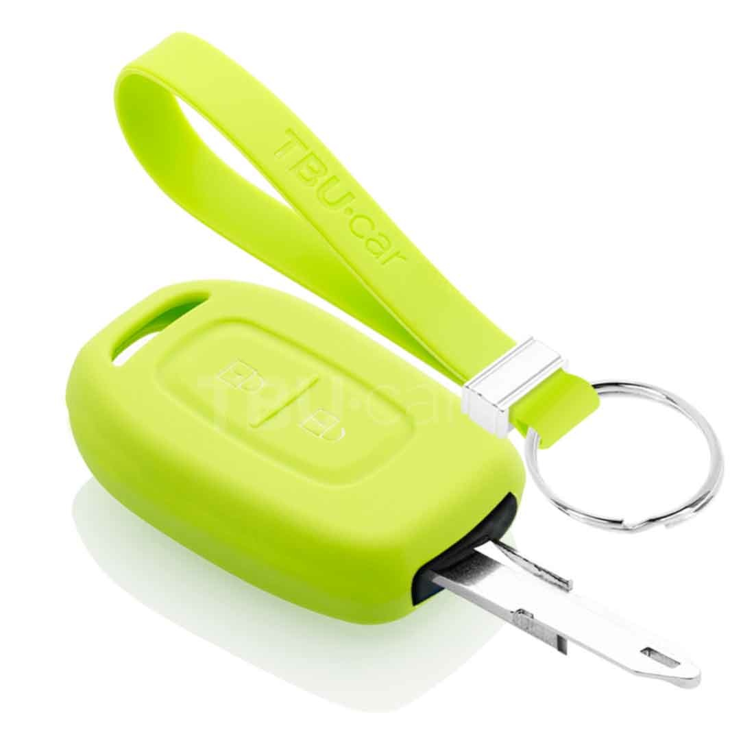 TBU car TBU car Funda Carcasa llave compatible con Dacia - Funda de Silicona - Cover de Llave Coche - Verde lima