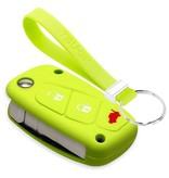 TBU car TBU car Autoschlüssel Hülle kompatibel mit Fiat 3 Tasten - Schutzhülle aus Silikon - Auto Schlüsselhülle Cover in Lindgrün