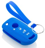 TBU car TBU car Autoschlüssel Hülle kompatibel mit Fiat 4 Tasten - Schutzhülle aus Silikon - Auto Schlüsselhülle Cover in Blau