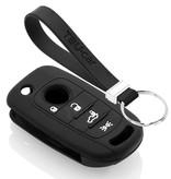 TBU car TBU car Autoschlüssel Hülle kompatibel mit Fiat 4 Tasten - Schutzhülle aus Silikon - Auto Schlüsselhülle Cover in Schwarz