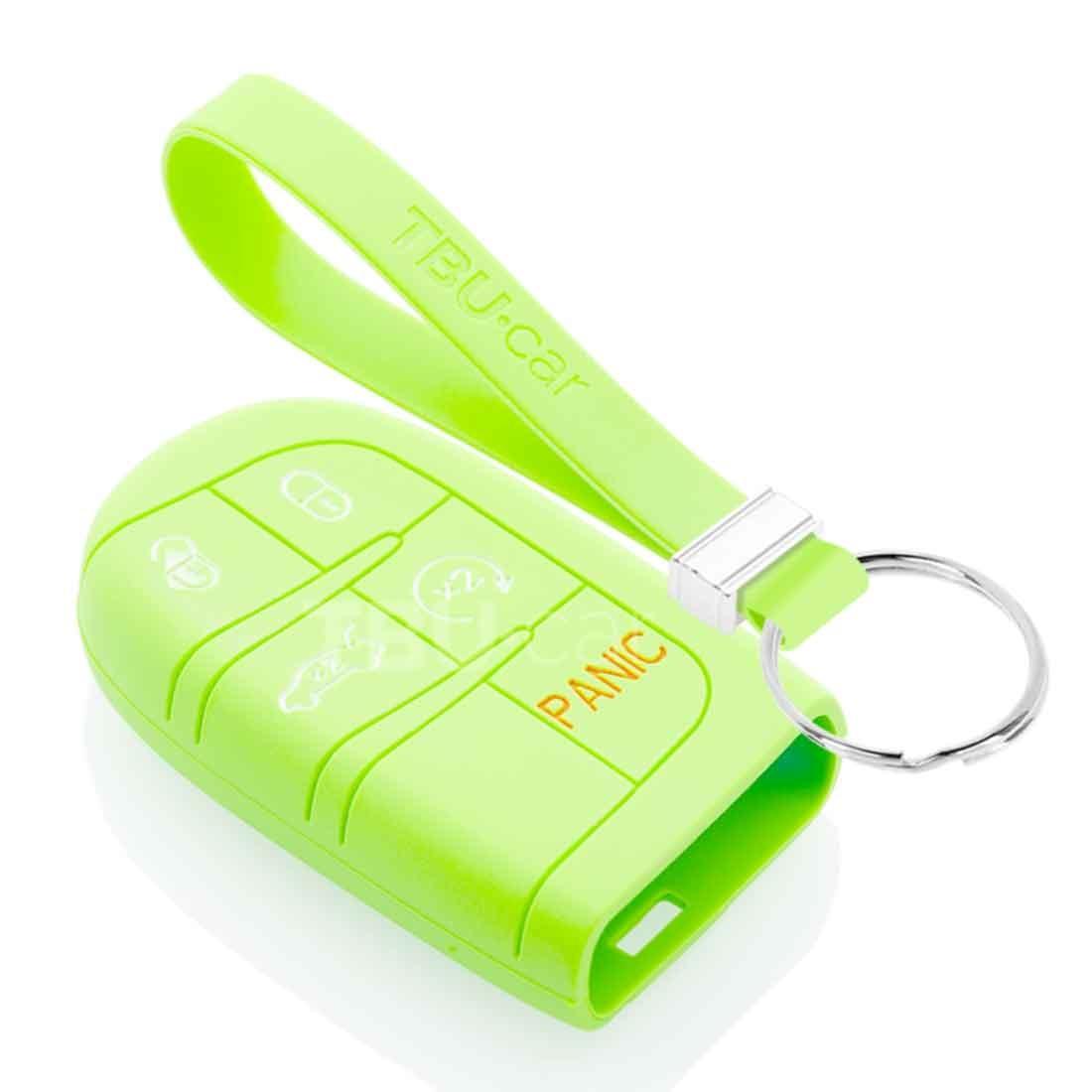 TBU car TBU car Sleutel cover compatibel met Fiat - Silicone sleutelhoesje - beschermhoesje autosleutel - Glow in the Dark