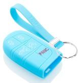 TBU car TBU car Sleutel cover compatibel met Fiat - Silicone sleutelhoesje - beschermhoesje autosleutel - Lichtblauw