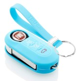 TBU car TBU car Autoschlüssel Hülle kompatibel mit Lancia 3 Tasten - Schutzhülle aus Silikon - Auto Schlüsselhülle Cover in Hellblau