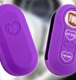 TBU car TBU car Autoschlüssel Hülle kompatibel mit Lancia 3 Tasten - Schutzhülle aus Silikon - Auto Schlüsselhülle Cover in Violett (Herzen)
