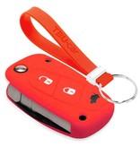 TBU car TBU car Autoschlüssel Hülle kompatibel mit Lancia 3 Tasten - Schutzhülle aus Silikon - Auto Schlüsselhülle Cover in Rot
