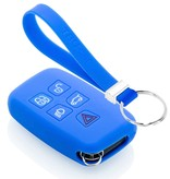 TBU car TBU car Autoschlüssel Hülle kompatibel mit Land Rover 5 Tasten (Keyless Entry) - Schutzhülle aus Silikon - Auto Schlüsselhülle Cover in Blau