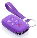 TBU car TBU car Sleutel cover compatibel met Range Rover - Silicone sleutelhoesje - beschermhoesje autosleutel - Paars