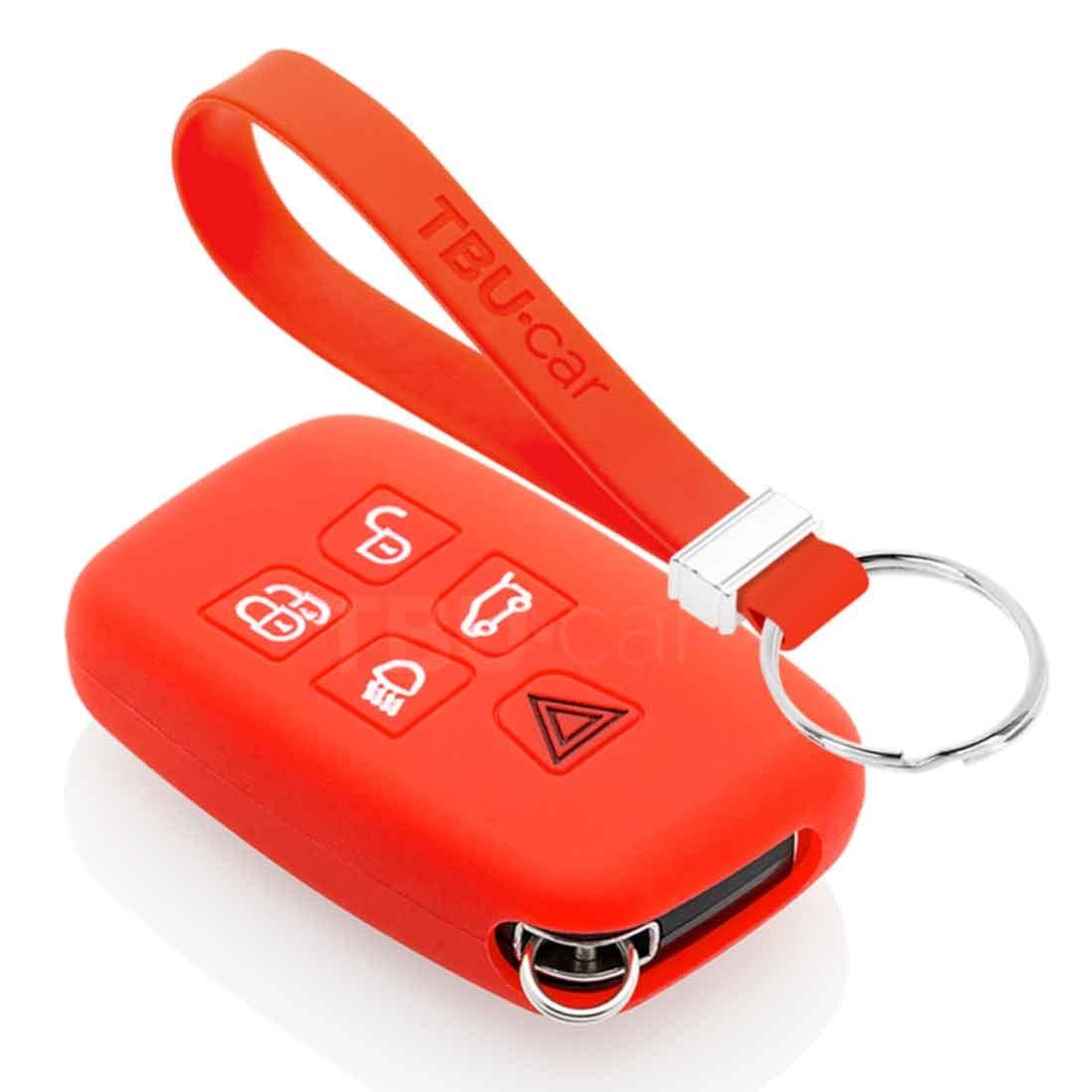 TBU car TBU car Sleutel cover compatibel met Range Rover - Silicone sleutelhoesje - beschermhoesje autosleutel - Rood
