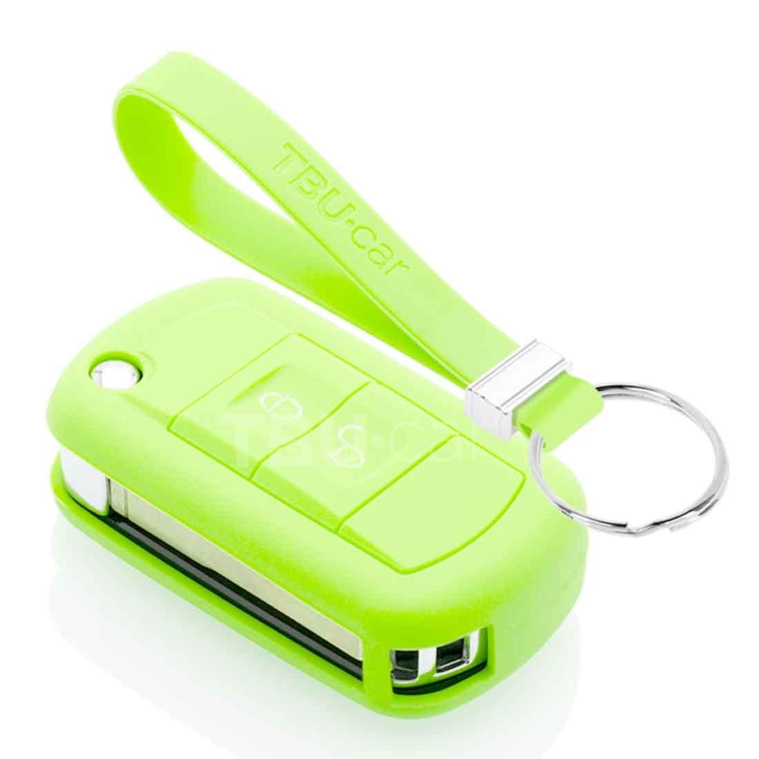 TBU car TBU car Sleutel cover compatibel met Land Rover - Silicone sleutelhoesje - beschermhoesje autosleutel - Glow in the Dark