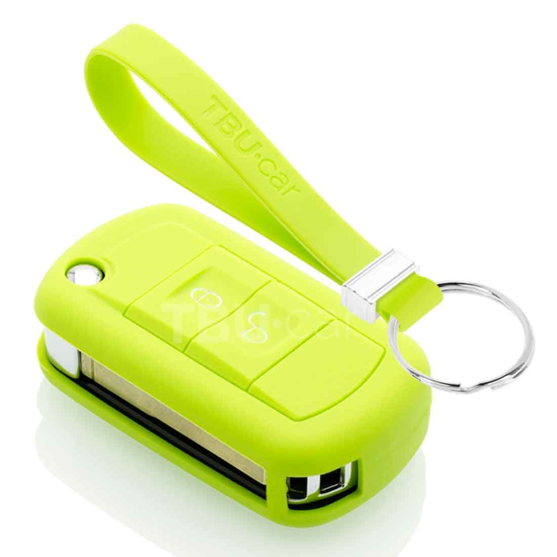 TBU car TBU car Autoschlüssel Hülle kompatibel mit Land Rover 2 Tasten - Schutzhülle aus Silikon - Auto Schlüsselhülle Cover in Hellgrün