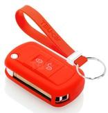 TBU car TBU car Sleutel cover compatibel met Land Rover - Silicone sleutelhoesje - beschermhoesje autosleutel - Rood