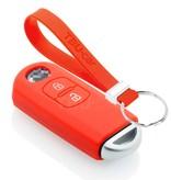 TBU car TBU car Sleutel cover compatibel met Mazda - Silicone sleutelhoesje - beschermhoesje autosleutel - Rood