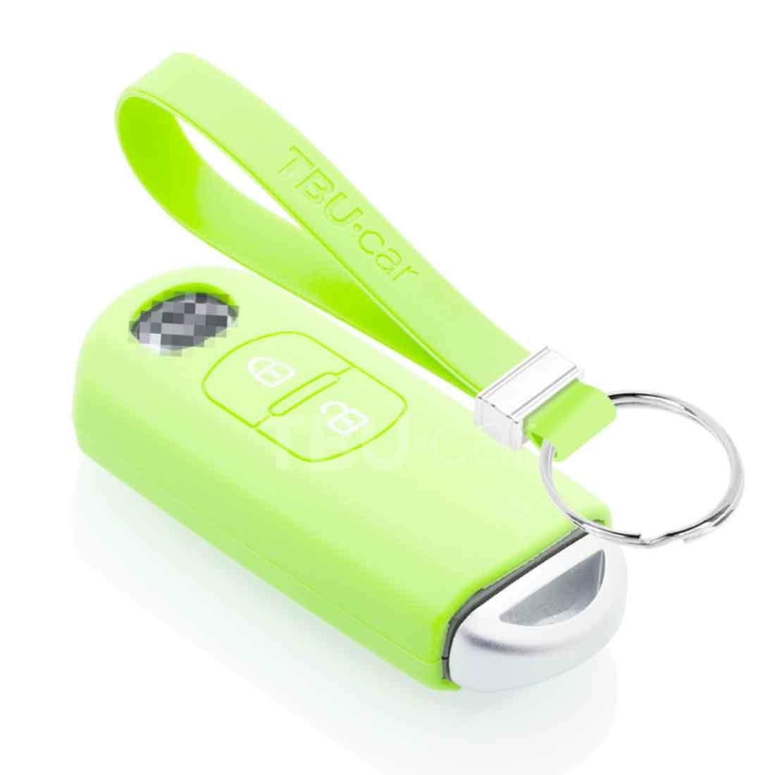 TBU car TBU car Sleutel cover compatibel met Mazda - Silicone sleutelhoesje - beschermhoesje autosleutel - Glow in the Dark